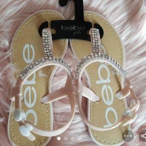 bebe girls NEW pink rhinestone sandals
